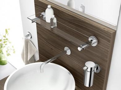 zack badablage scala edelstahl glas zum kleben oder schrauben ebay. Black Bedroom Furniture Sets. Home Design Ideas