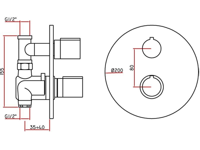Unterputz armatur dusche einbauen for Fenster 75x90