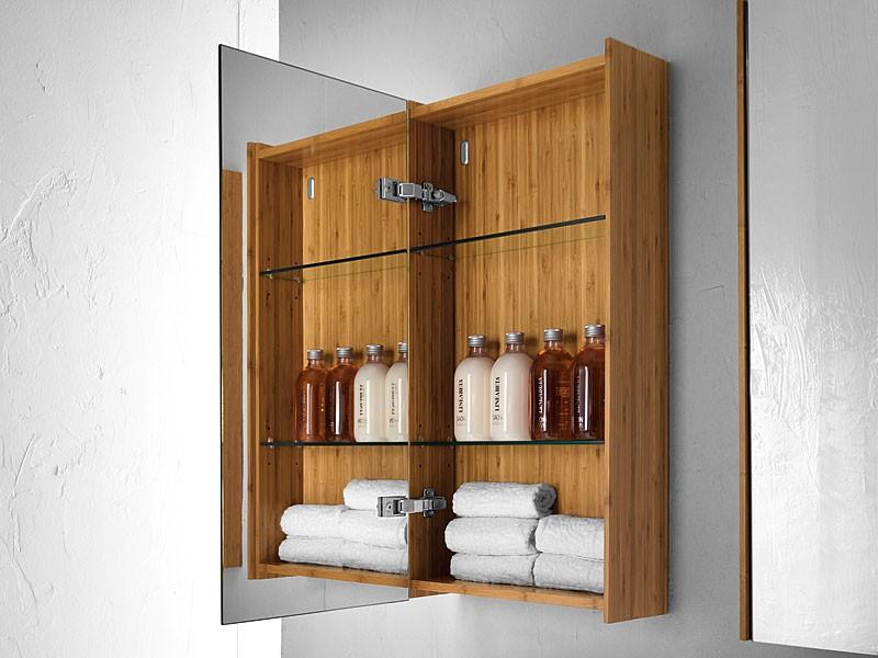 Badezimmer spiegelschrank bambus m bel und heimat design for Badezimmer spiegelschrank holz
