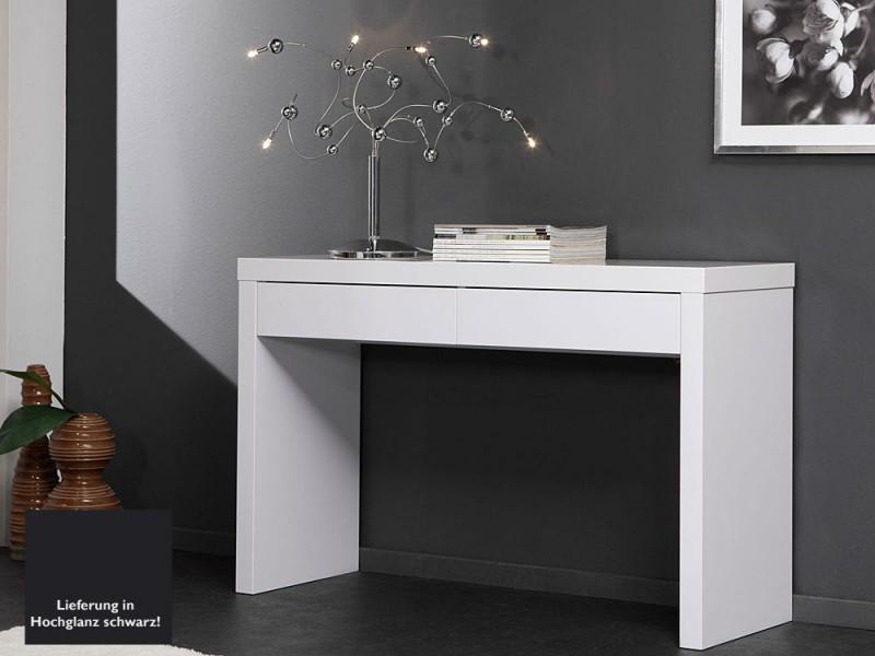 schminktisch anrichte 2 schubladen schwarz hochglanzlack. Black Bedroom Furniture Sets. Home Design Ideas