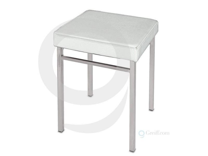 badhocker k chenhocker sitzhocker metall verchromt. Black Bedroom Furniture Sets. Home Design Ideas