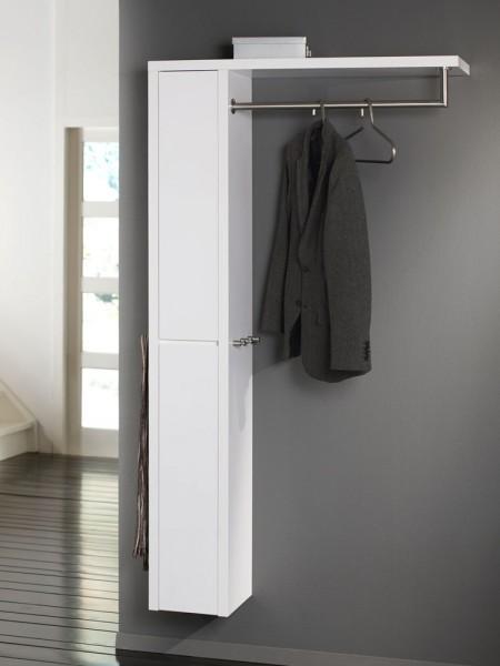 Wandgarderobe mit garderobenschrank hochglanz schwarz ebay for Garderobenschrank schwarz hochglanz