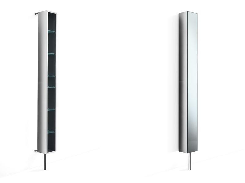 spiegelschrank drehschrank badschrank edelstahl schmal. Black Bedroom Furniture Sets. Home Design Ideas