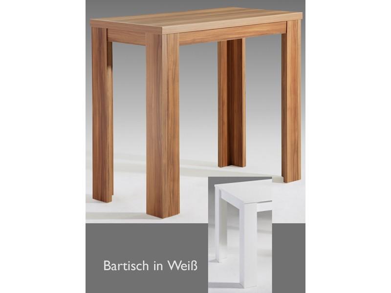stehtisch bartisch esstisch wei matt 120x60 ebay. Black Bedroom Furniture Sets. Home Design Ideas