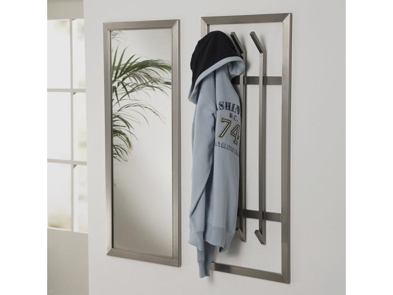 wandgarderobe edelstahl flurgarderobe 100x40 matt sale. Black Bedroom Furniture Sets. Home Design Ideas