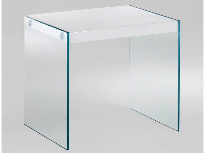 beistelltisch glas 40x35 tischplatte wei hochglanz. Black Bedroom Furniture Sets. Home Design Ideas