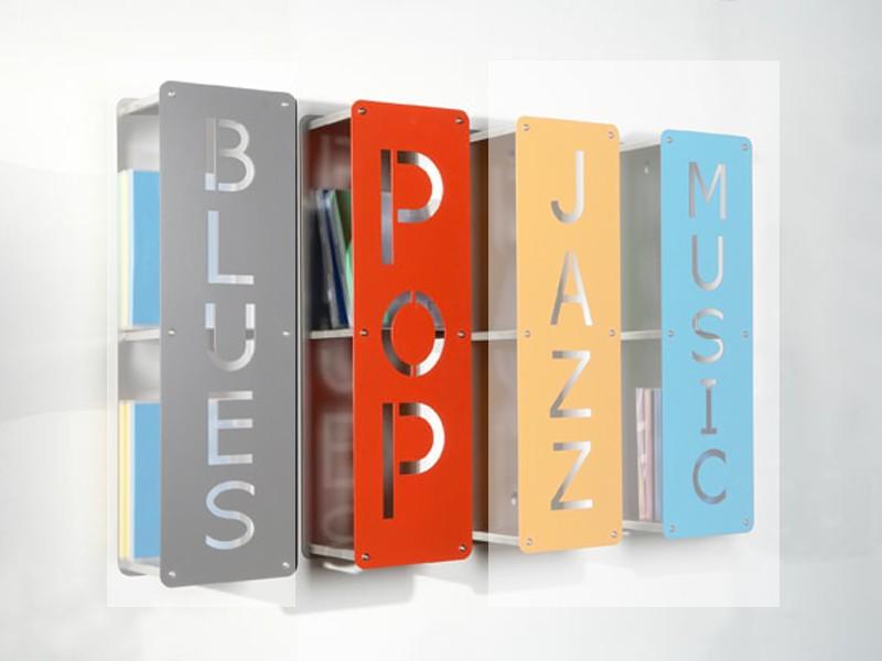 cd dvd regal pop wandregal 2 f cher rot lackiert sale ebay. Black Bedroom Furniture Sets. Home Design Ideas