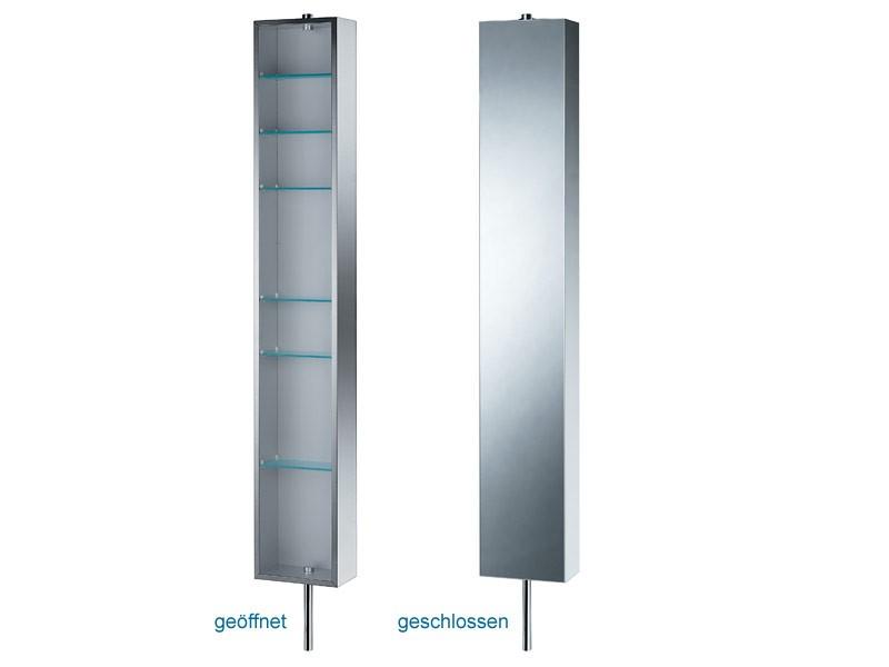 spiegelschrank drehbar edelstahl 183x25cm ebay. Black Bedroom Furniture Sets. Home Design Ideas