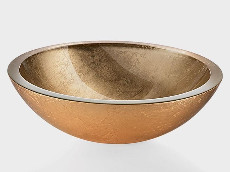 glaswaschbecken gold handwaschbecken aufsatzwaschbecken. Black Bedroom Furniture Sets. Home Design Ideas