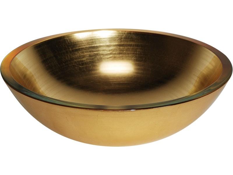 glaswaschbecken aufsatzwaschbecken lineabeta gold 42 cm. Black Bedroom Furniture Sets. Home Design Ideas