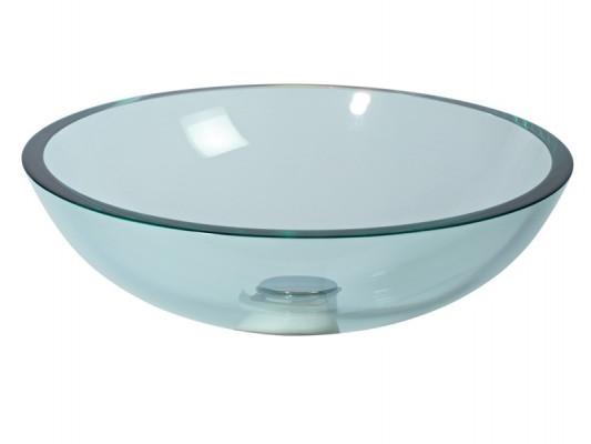 Waschbecken rund glas  Glaswaschbecken Aufsatzwaschbecken transparent Lineabeta 42 cm