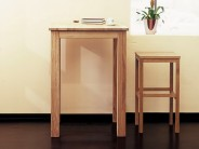 bartisch eiche massiv tresentisch esstisch 75x75. Black Bedroom Furniture Sets. Home Design Ideas