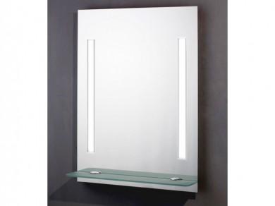 Spiegel Mit Beleuchtung Und Ablage : Badspiegel beleuchtet 60x80 mit Glasablage und Schalter