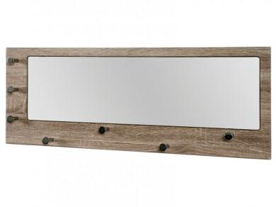 wandgarderobe mit spiegel eiche tr ffel 7 haken. Black Bedroom Furniture Sets. Home Design Ideas