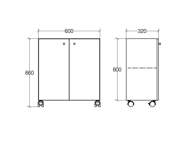 badm bel edelstahl auf rollen badschrank unterschrank 2 t ren. Black Bedroom Furniture Sets. Home Design Ideas