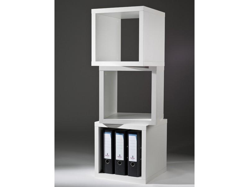 w rfelregal regal beistelltisch 40x40 wei. Black Bedroom Furniture Sets. Home Design Ideas