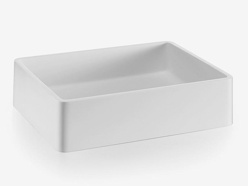 aufsatzwaschbecken handwaschbecken mattstone wei. Black Bedroom Furniture Sets. Home Design Ideas