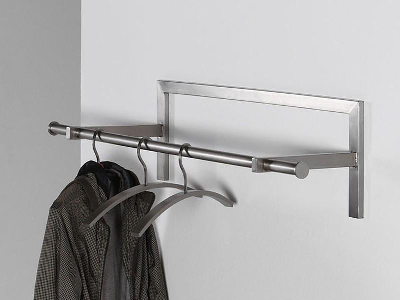 wandgarderobe edelstahl flurgarderobe 87cm sale. Black Bedroom Furniture Sets. Home Design Ideas