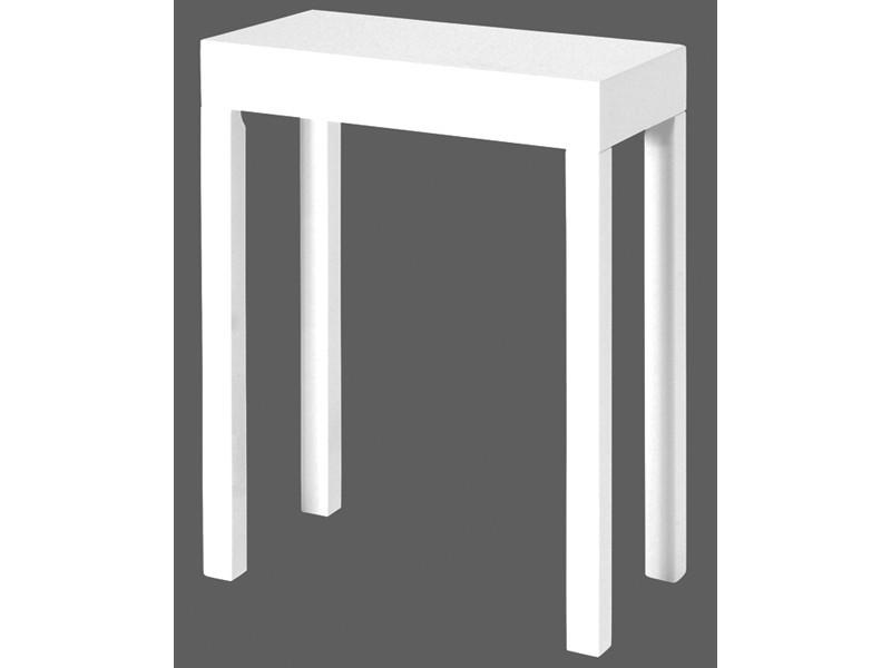 beistelltisch wei gl nzend konsole 43 cm. Black Bedroom Furniture Sets. Home Design Ideas