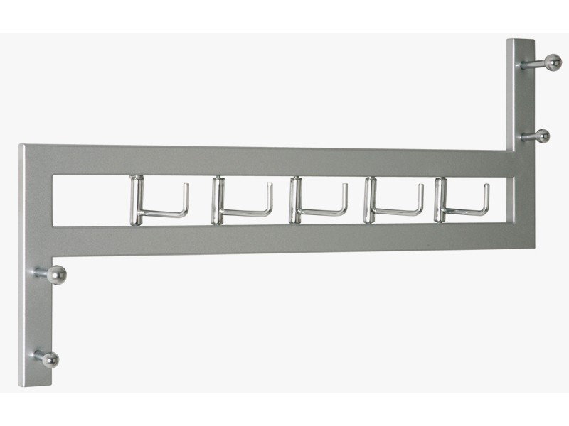 garderobenleiste hakenleiste stahlrohr alu chrom. Black Bedroom Furniture Sets. Home Design Ideas