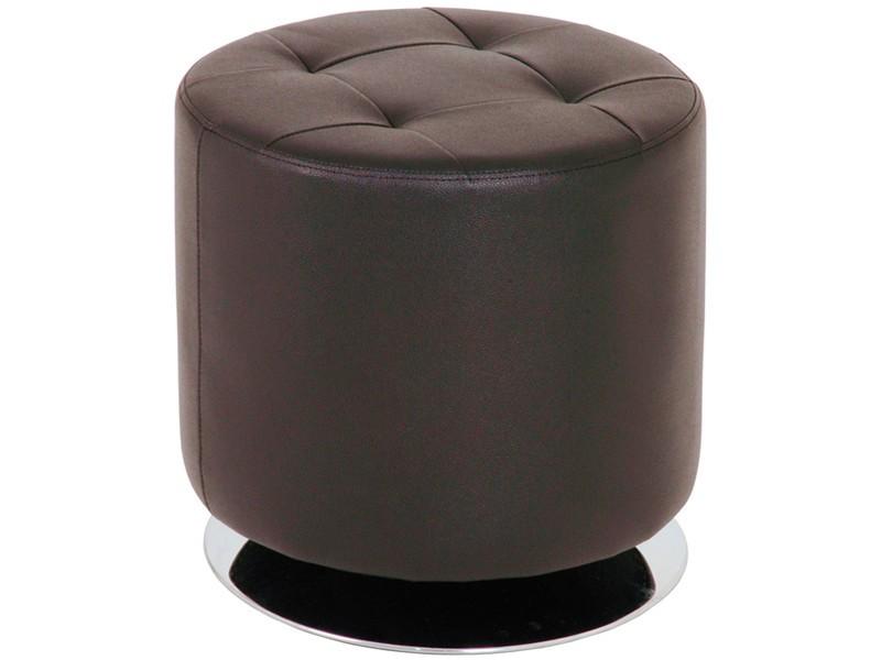 drehhocker braun pouf polsterhocker rund kunstleder. Black Bedroom Furniture Sets. Home Design Ideas