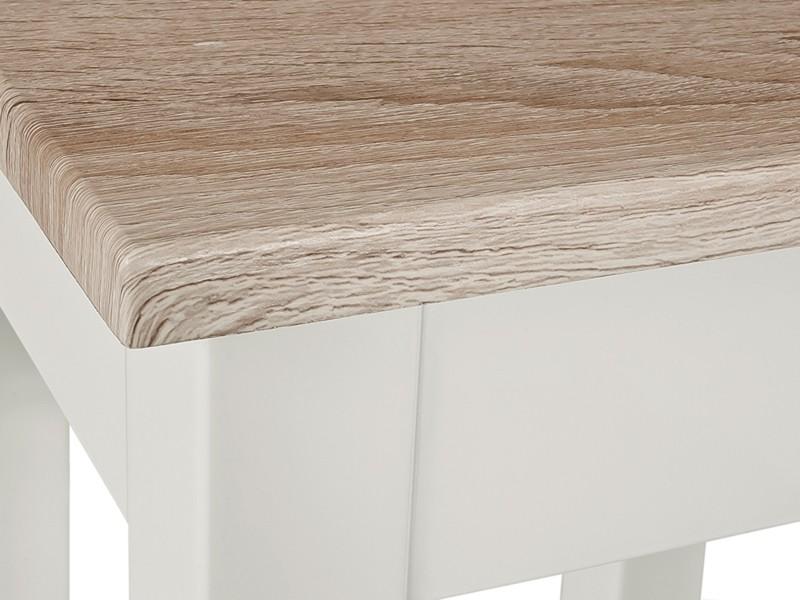 beistelltisch wei platte sonoma eiche s gerau 56x30x52. Black Bedroom Furniture Sets. Home Design Ideas