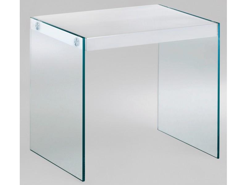Tischplatte weiß hochglanz  Beistelltisch Glastisch Tischplatte weiß Hochglanz 46x35