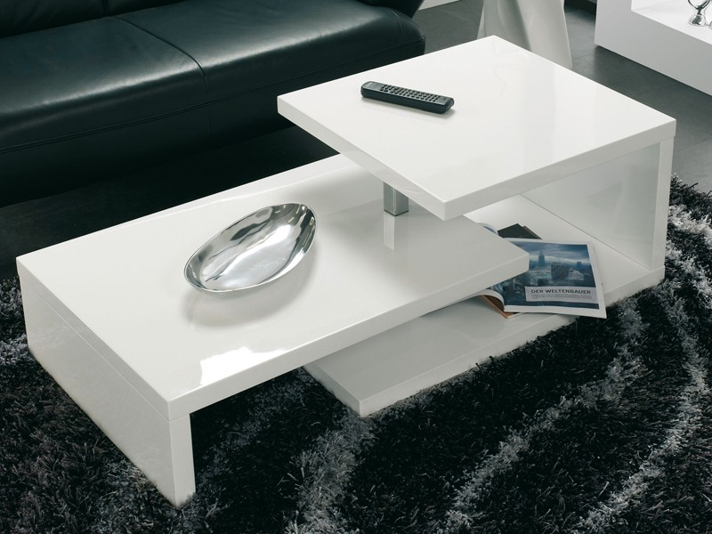 couchtisch wei gl nzend wohnzimmertisch 120x60cm. Black Bedroom Furniture Sets. Home Design Ideas