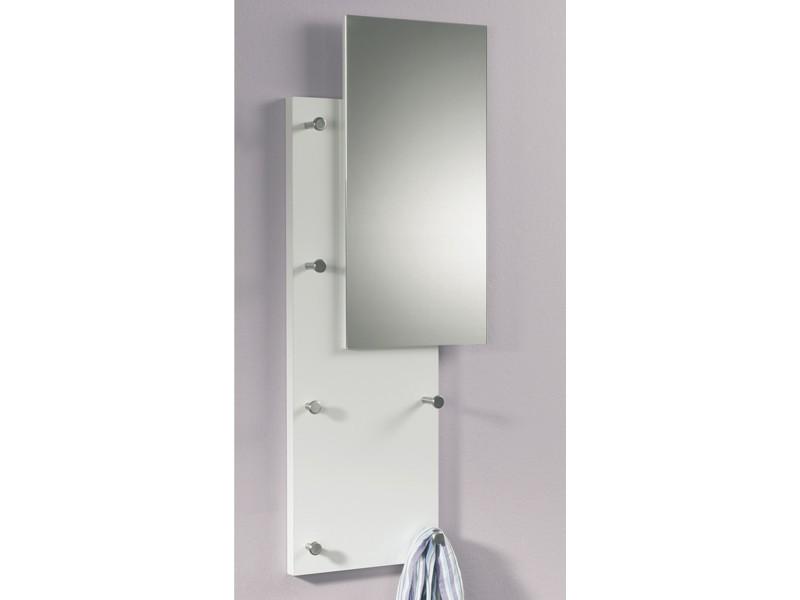 Wandgarderobe mit spiegel gl nzend wei for Moderne wandgarderobe