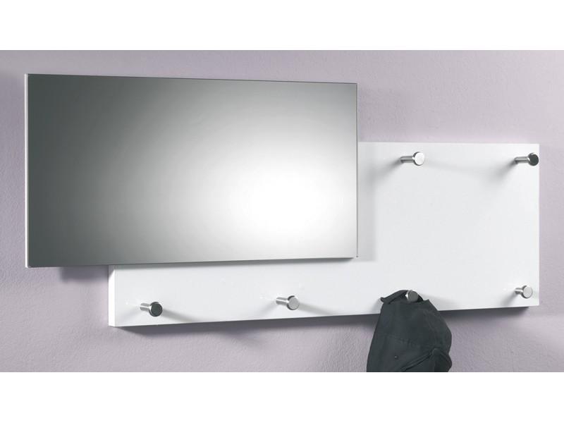 Eckkleiderschrank Weiß Mit Spiegel ~ Wandgarderobe mit Spiegel glänzend weiß