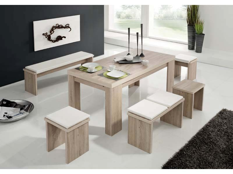 esstischgruppe eiche s gerau tischbruppe 1 tisch 1 bank 2. Black Bedroom Furniture Sets. Home Design Ideas