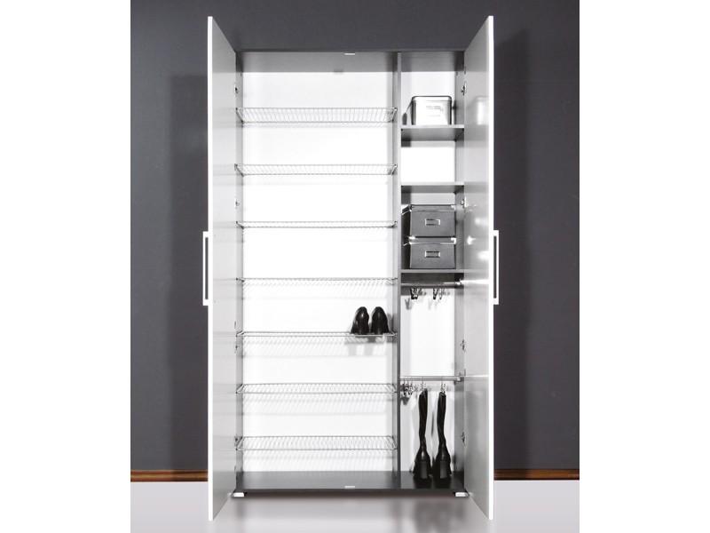 schuhschrank bis 40 paare esche lackfront wei hochglanz. Black Bedroom Furniture Sets. Home Design Ideas