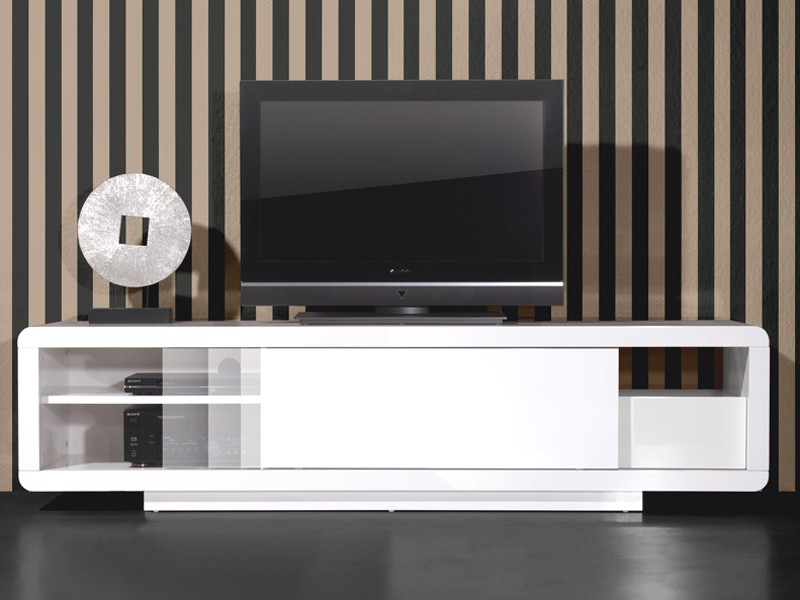 tv m bel wei hochglanz h ngend. Black Bedroom Furniture Sets. Home Design Ideas