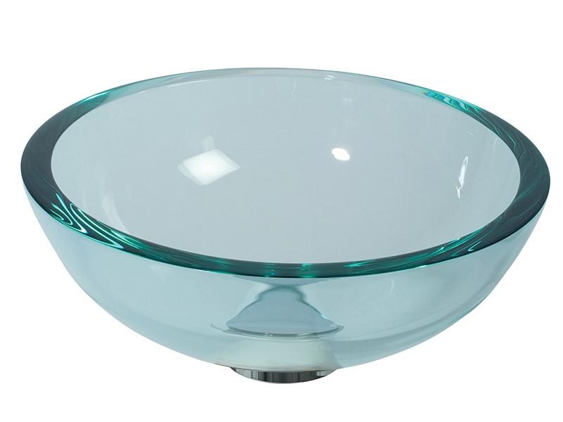 Glaswaschbecken transparent Handwaschbecken rund 30cm ...