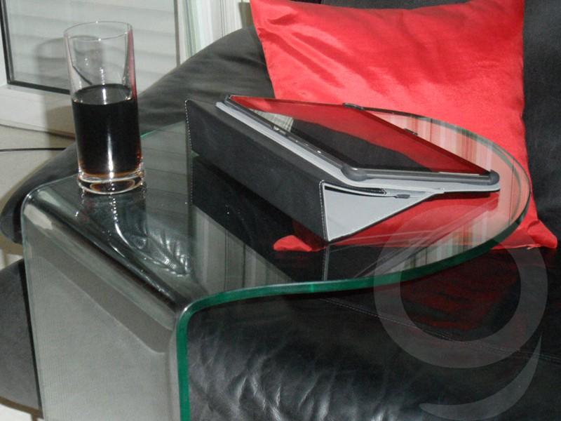 beistellstisch glastisch vielseitiger couchtisch auf rollen sale. Black Bedroom Furniture Sets. Home Design Ideas