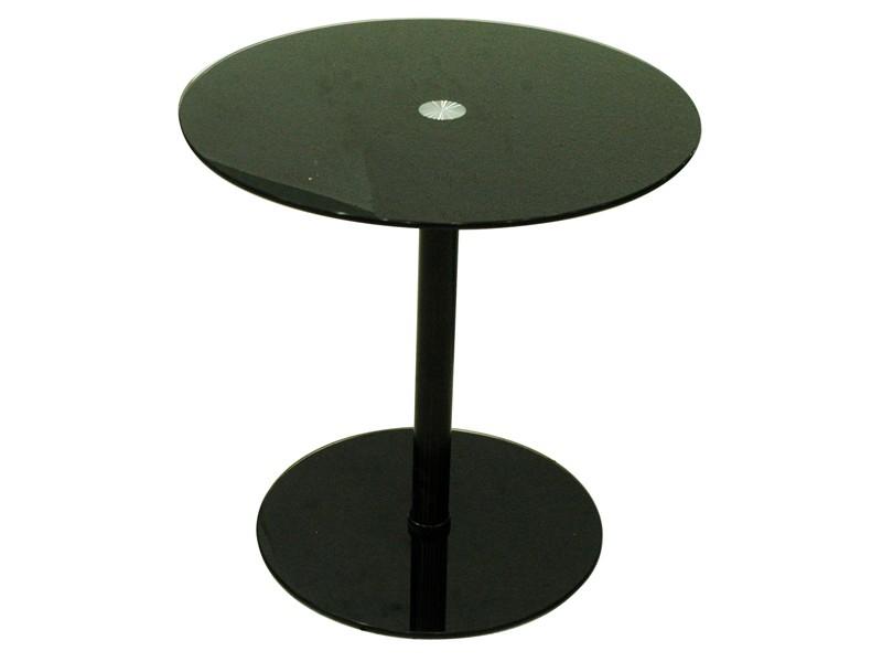 Preisvergleich eu beistelltisch rund mit glasplatte for Beistelltisch schwarz rund