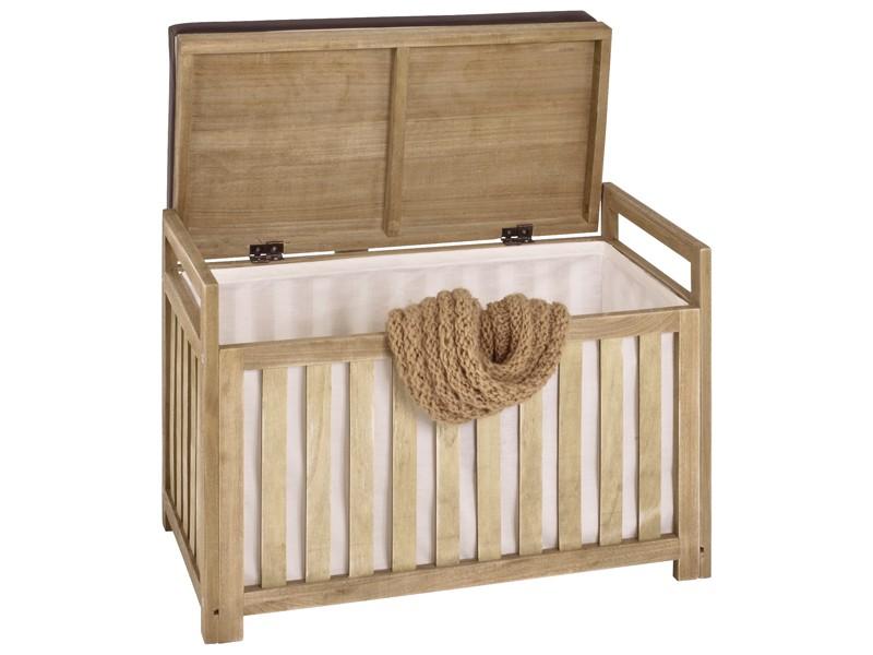 sitzbank truhenbank sitztruhe 65x33x46 massivholz braun. Black Bedroom Furniture Sets. Home Design Ideas