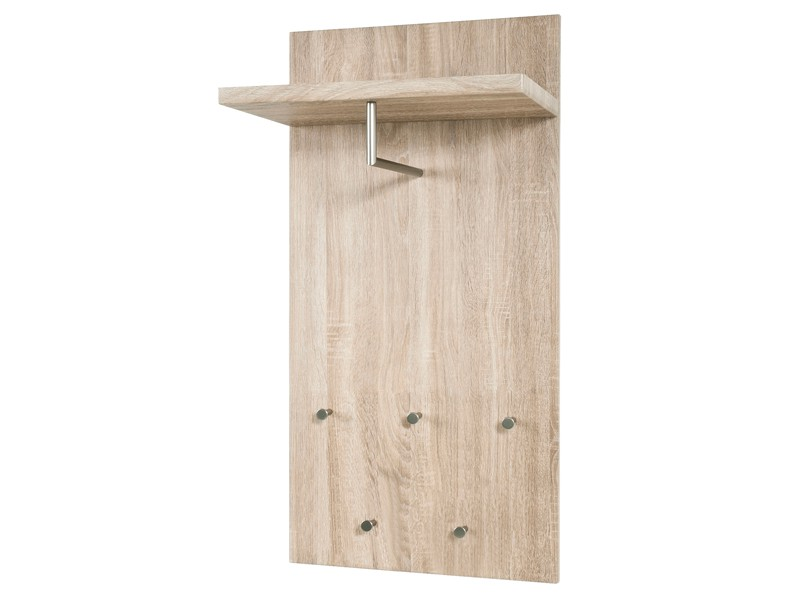 wandgarderobe eiche s gerau ablage 5 haken stange sale. Black Bedroom Furniture Sets. Home Design Ideas