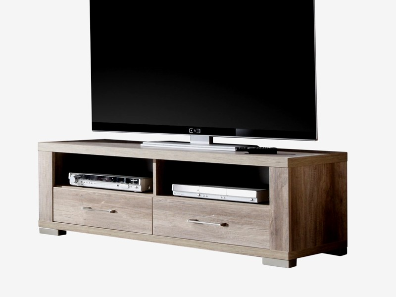 lowboard wildeiche tr ffel tvschrank fernsehschrank 134cm. Black Bedroom Furniture Sets. Home Design Ideas