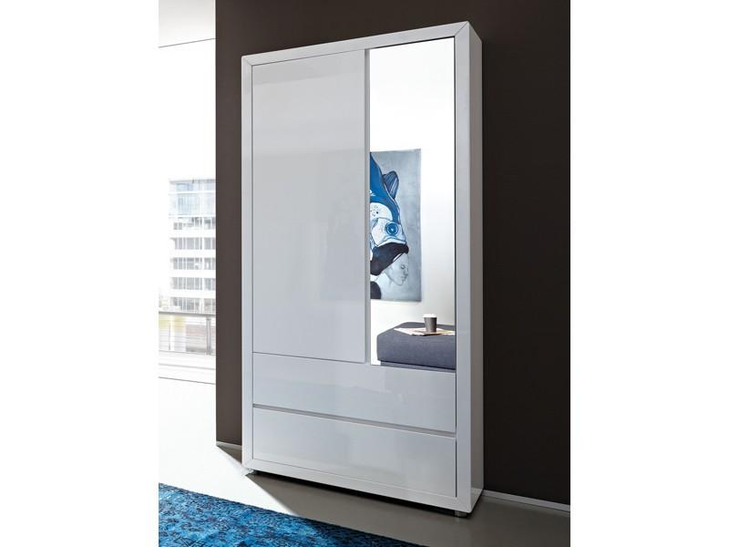 kleiderschrank weiß hochglanz spiegel