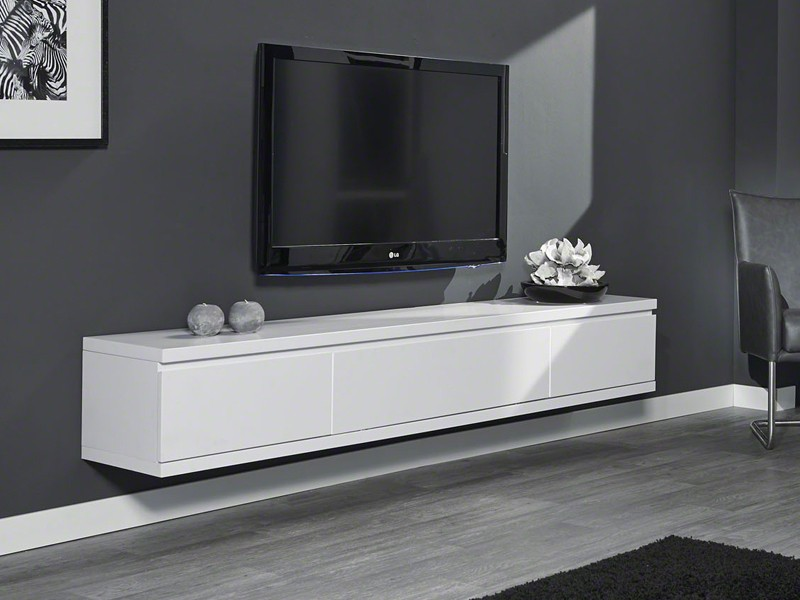 sideboard wei hochglanz h ngend. Black Bedroom Furniture Sets. Home Design Ideas