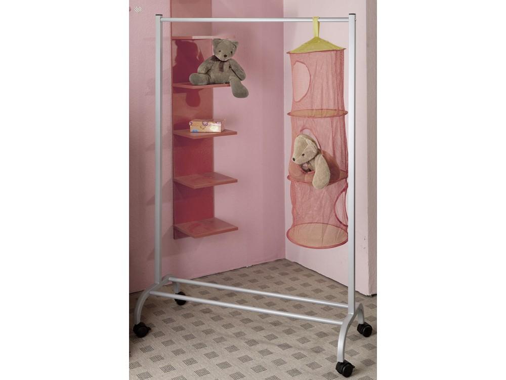 rollgarderobe stabil kleiderst nder alufarben. Black Bedroom Furniture Sets. Home Design Ideas