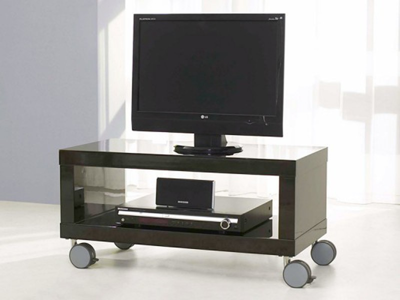 tv m bel rack fernsehregal 3ausz ge schwarz glanz sale pictures to pin on pinterest. Black Bedroom Furniture Sets. Home Design Ideas