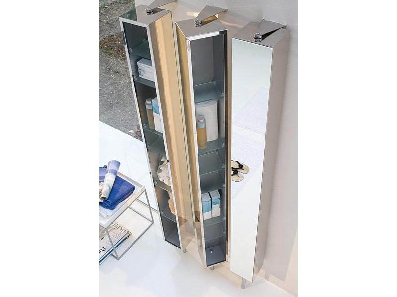 Spiegelschrank drehschrank edelstahl breit 25 cm pika for Drehschrank kuche