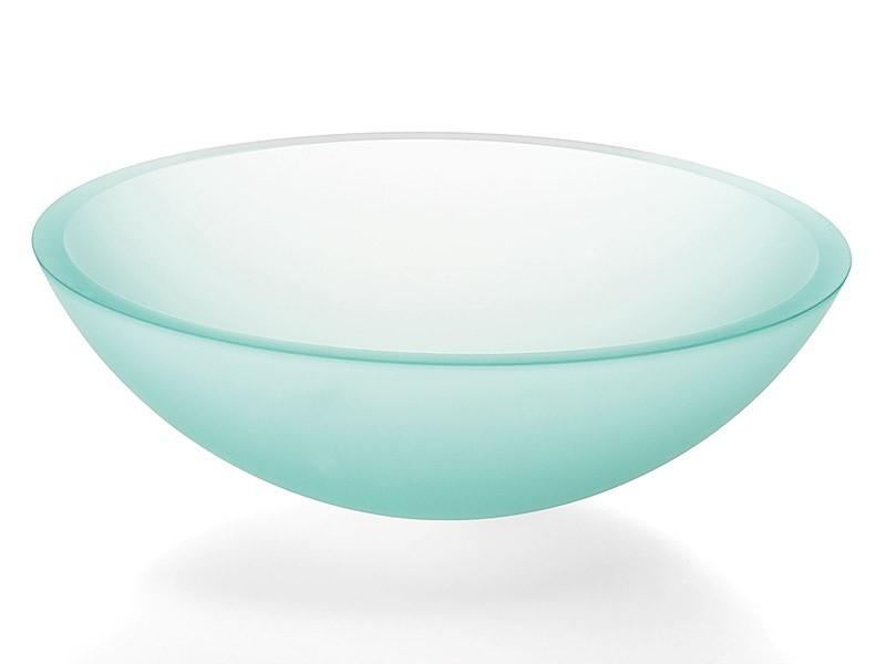 Glaswaschbecken Aufsatzwaschbecken Lineabeta satiniert 42 cm | {Waschbecken rund glas 19}